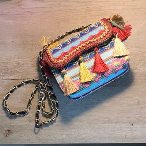 Embroidered tassel purse from Zaful